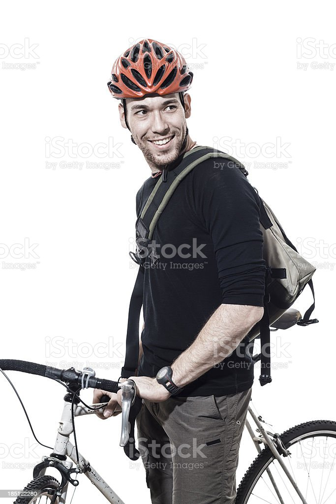 Portrait of a male commuter stock photo