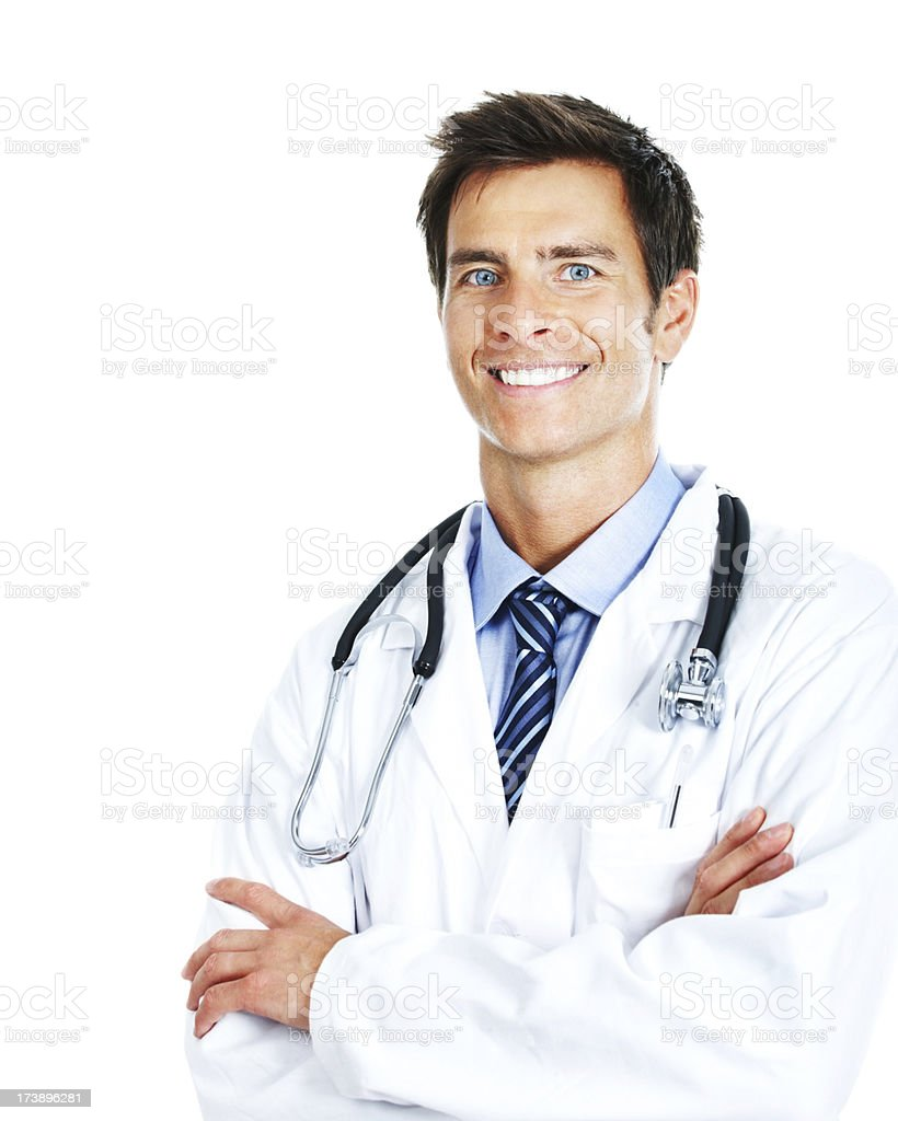 Portrait of a male doctor smiling royalty-free stock photo