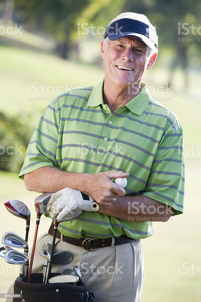 Portrait Of A Male Golfer stock photo