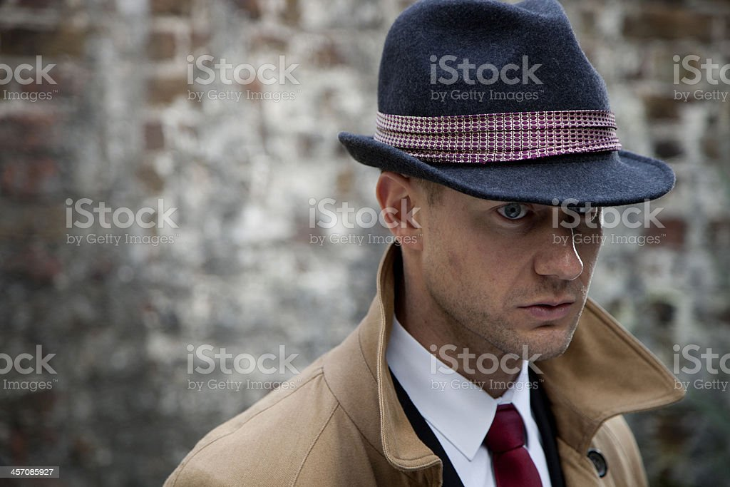Portrait of a male police detective royalty-free stock photo