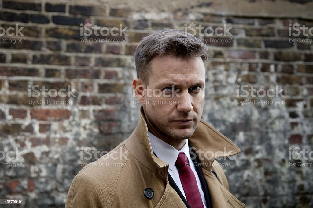 Portrait of a male police detective stock photo
