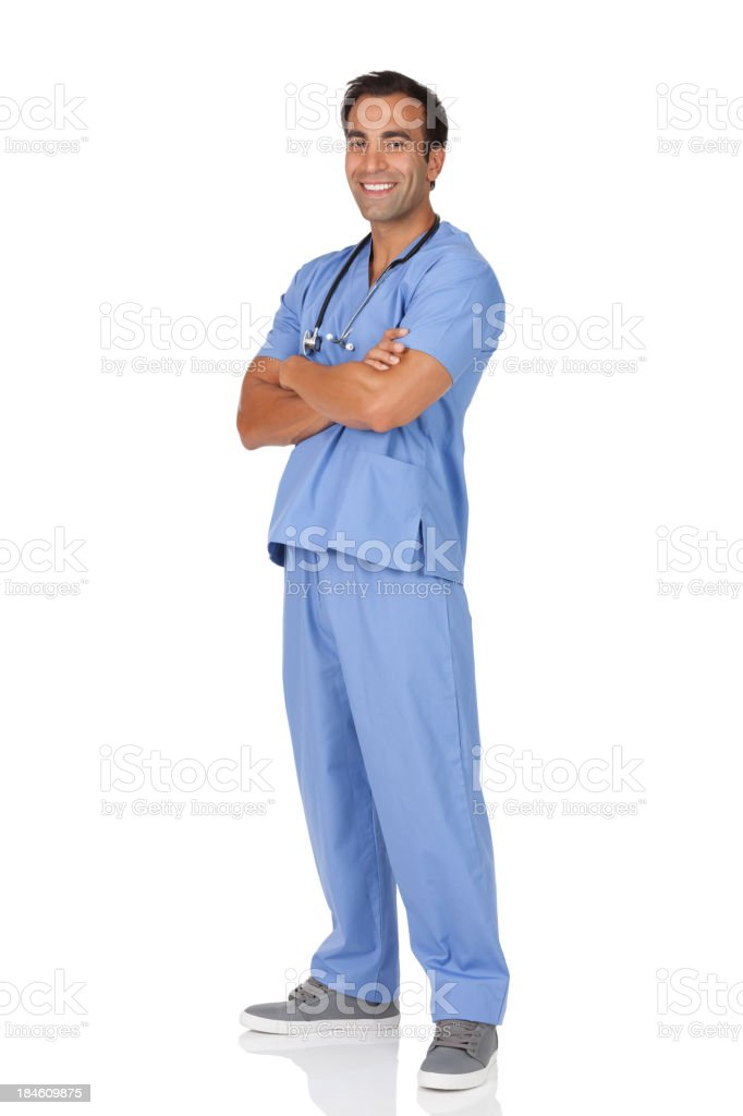 Portrait of a male surgeon with his arms crossed royalty-free stock photo