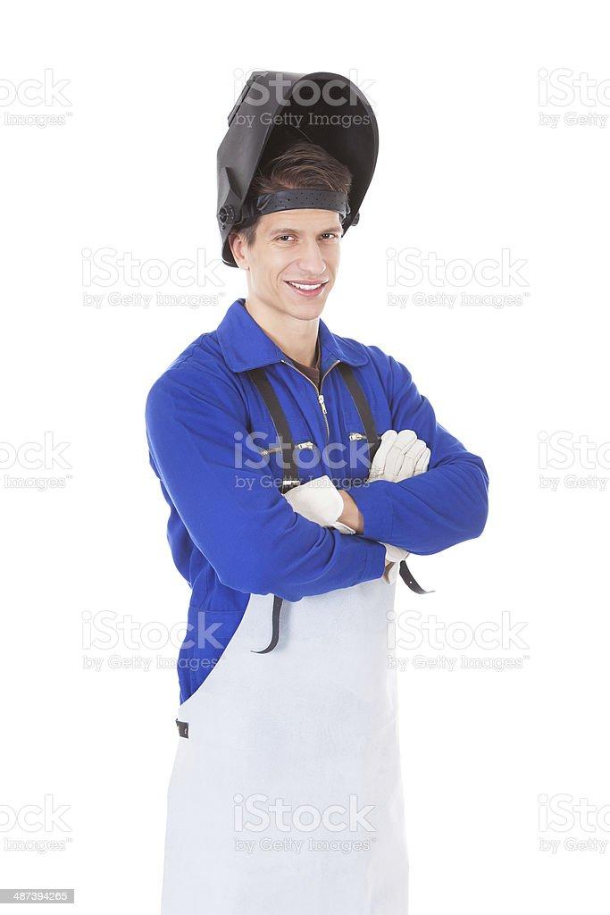 Portrait Of A Male Welder stock photo