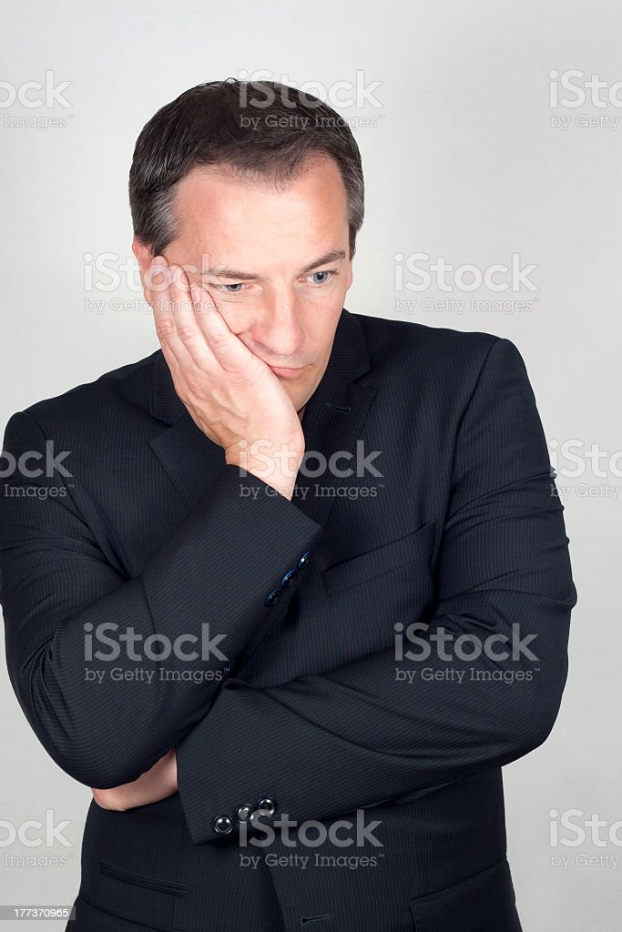 Portrait of a man in bad mood royalty-free stock photo