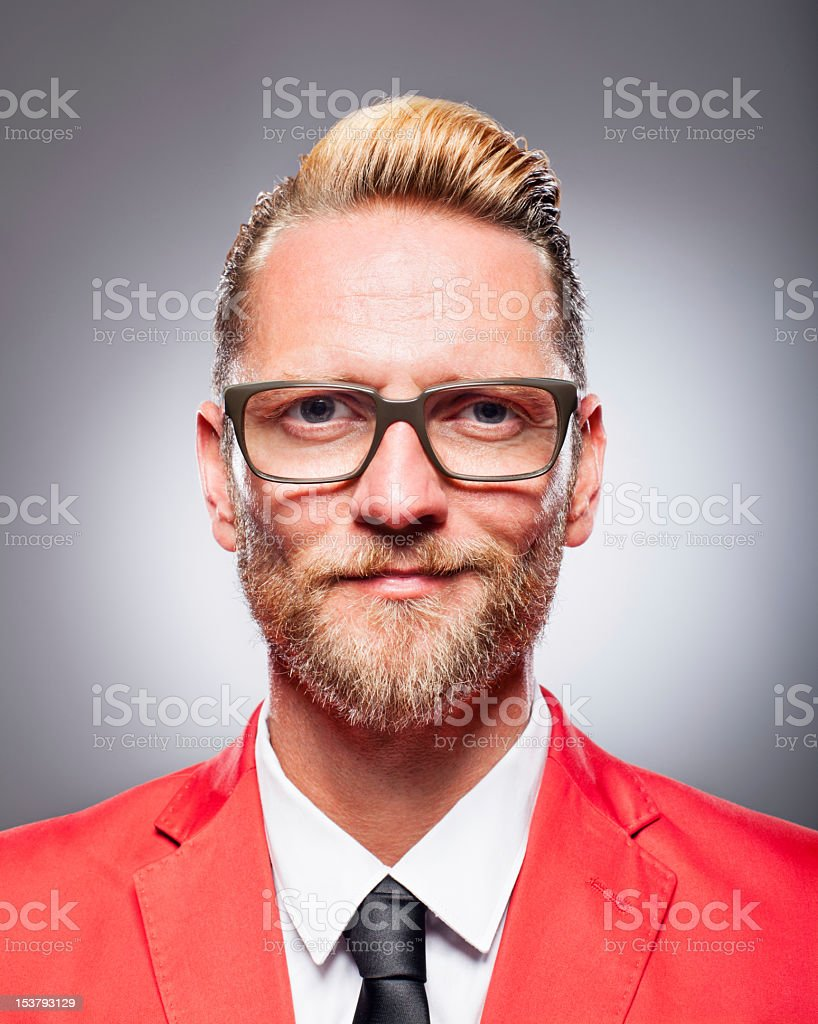 Portrait of a man in the studio stock photo