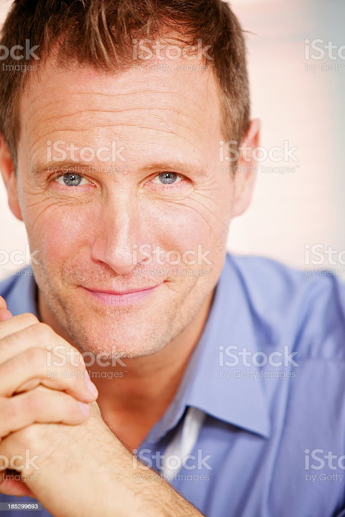portrait of a man looking at the camera royalty-free stock photo