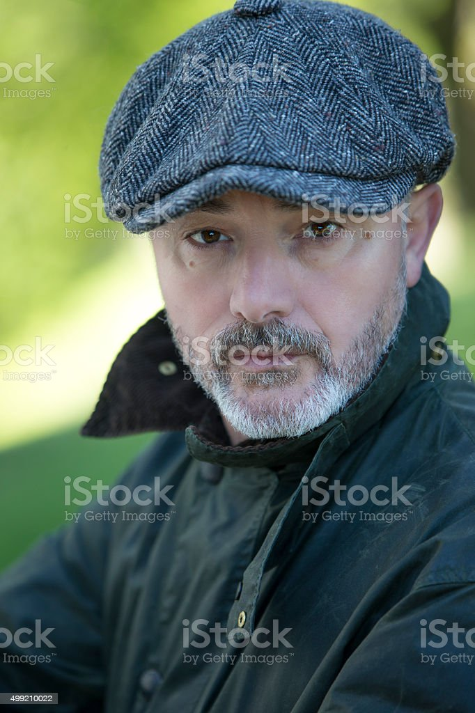 Portrait of a man outdoors stock photo