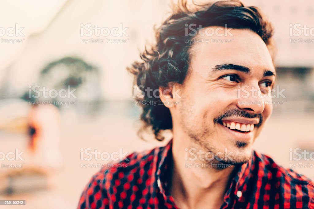 Portrait of a man stock photo