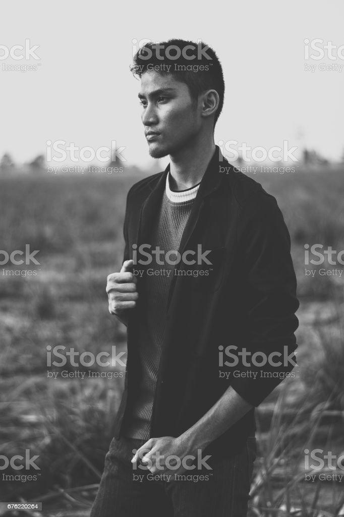 Portrait of a man stock photo