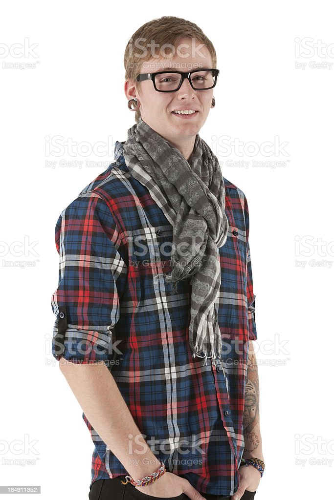 Portrait of a man smiling royalty-free stock photo