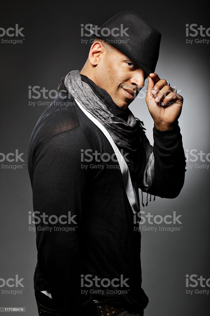 Portrait of a Man with Hat royalty-free stock photo