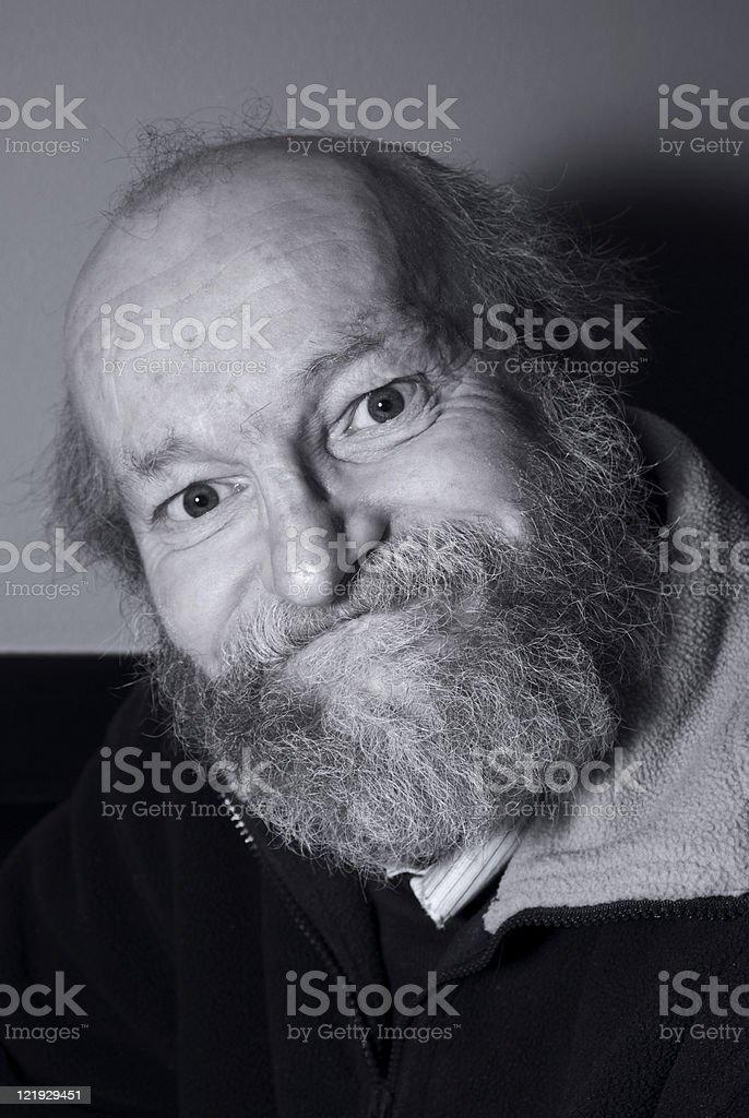 Portrait eines Mannes mit struppigem Barthaar stock photo