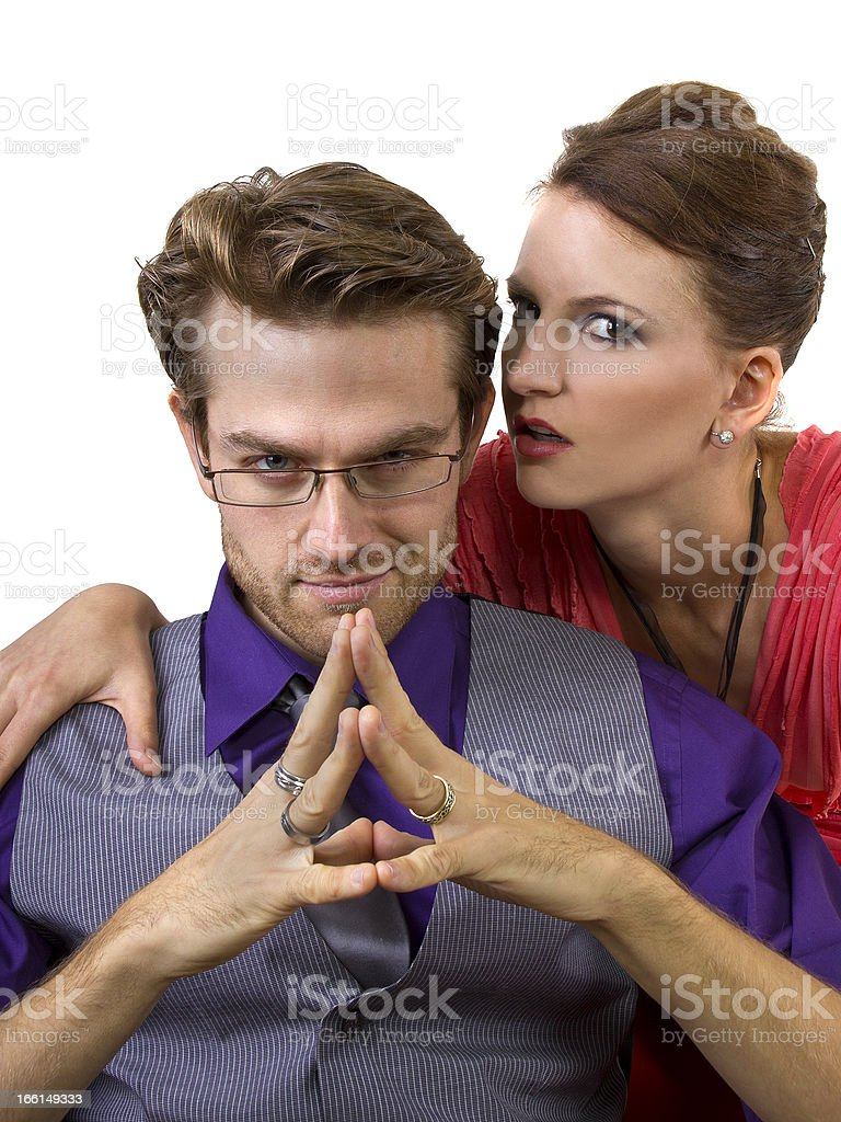 Portrait of a Manipulative Boyfriend and His Girlfriend royalty-free stock photo