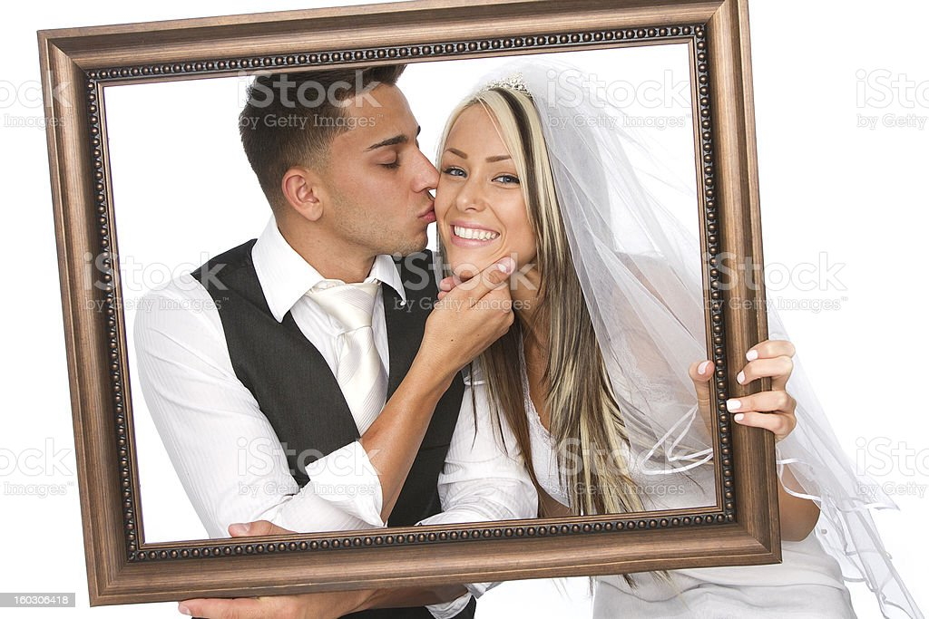 portrait of a married couple stock photo