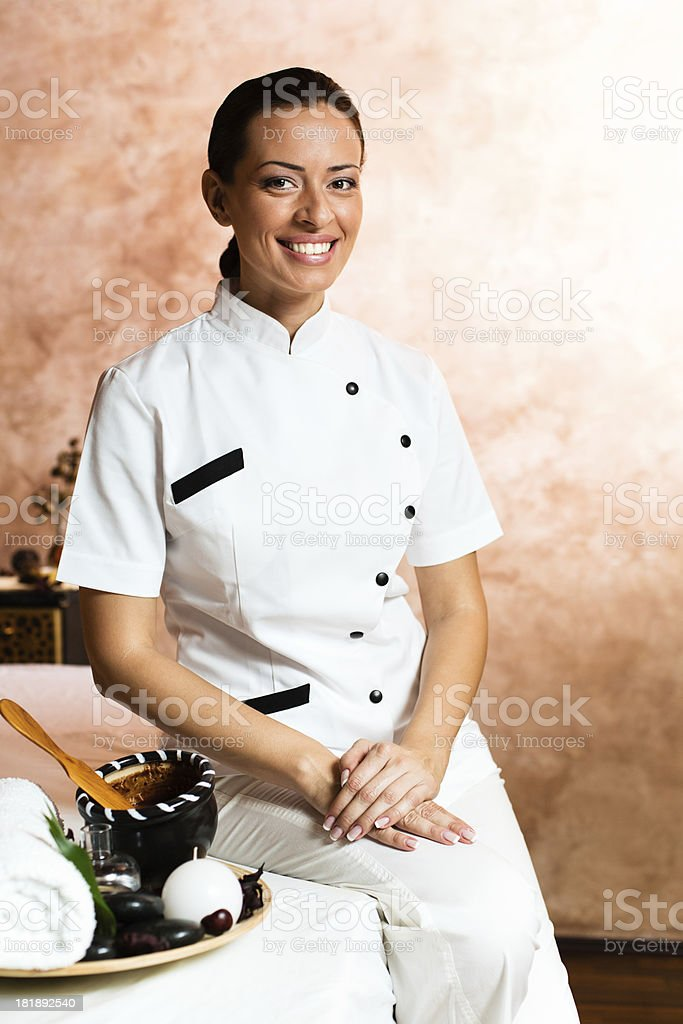 Portrait of a massage therapiest royalty-free stock photo