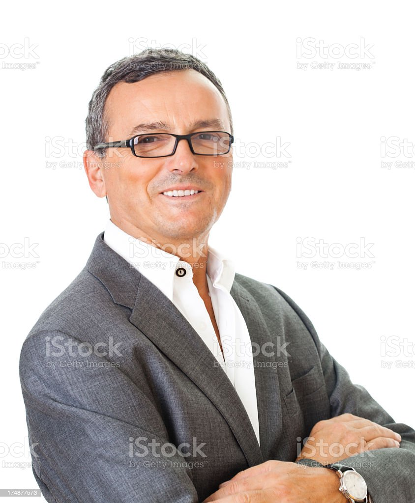 Portrait of a mature business man royalty-free stock photo