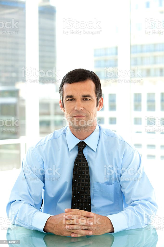 Portrait of a mature businessman stock photo
