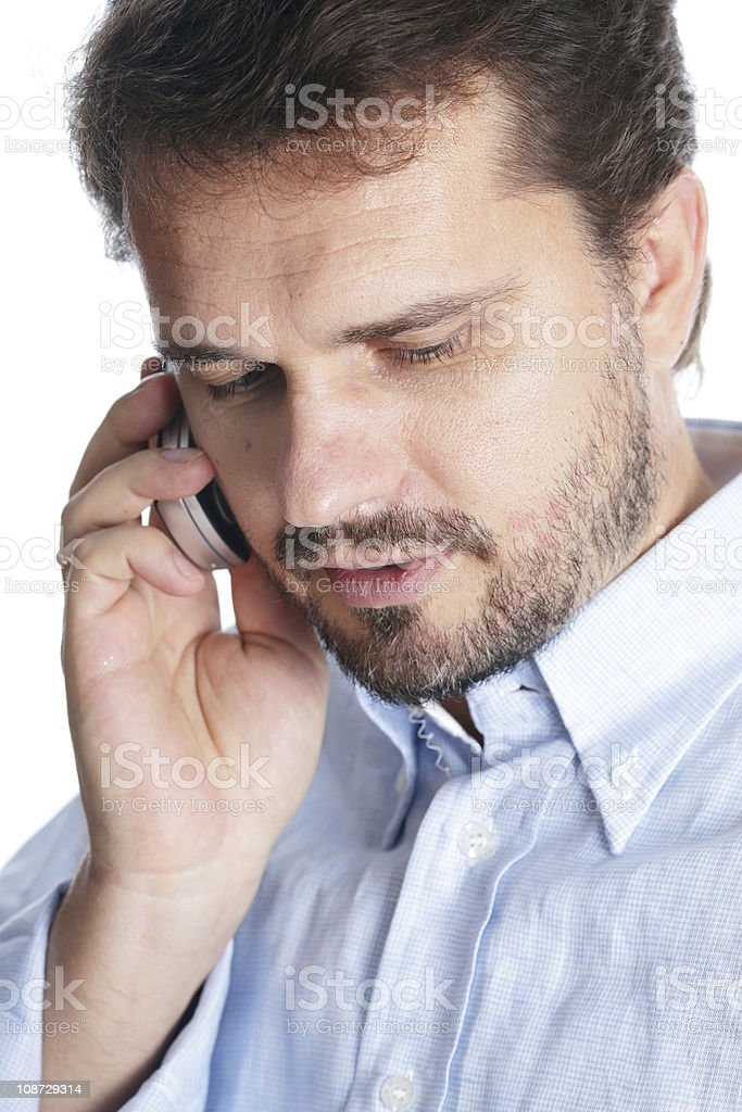Portrait of a mature businessman talking on cellphone royalty-free stock photo