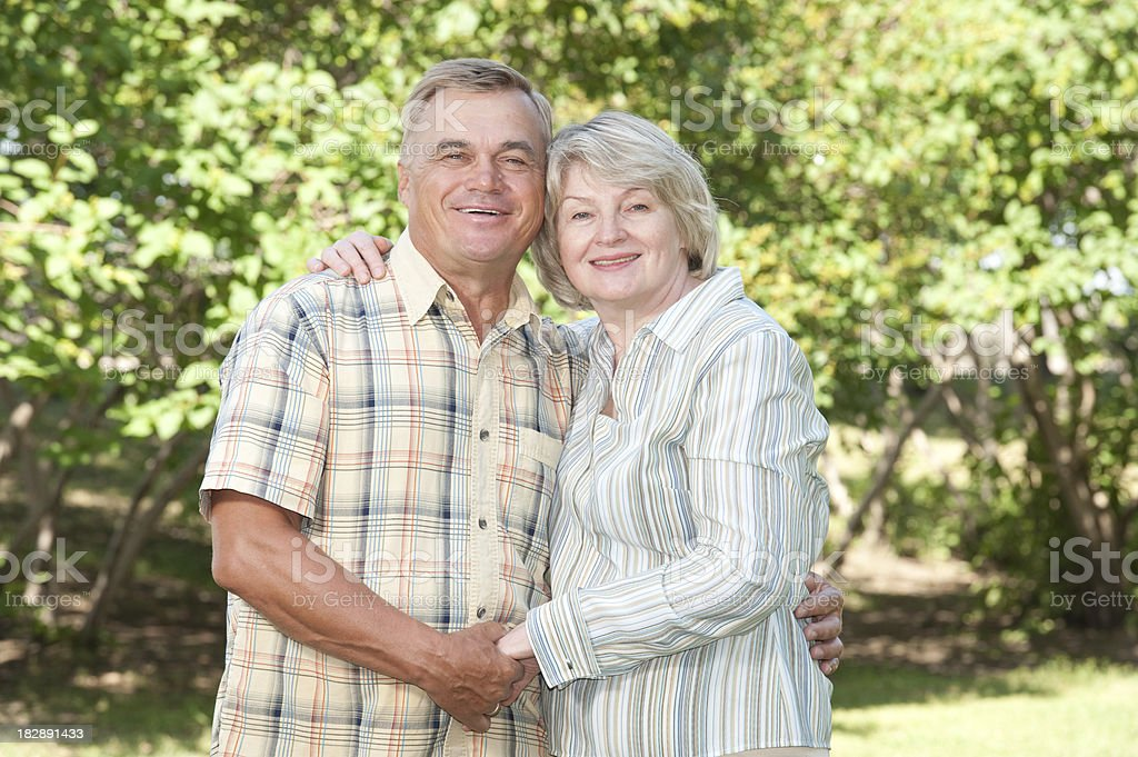 Portrait of a mature couple royalty-free stock photo
