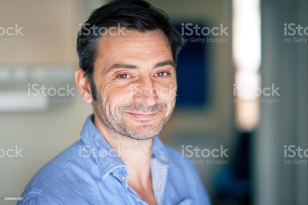 Portrait Of A Mature Italian Man stock photo
