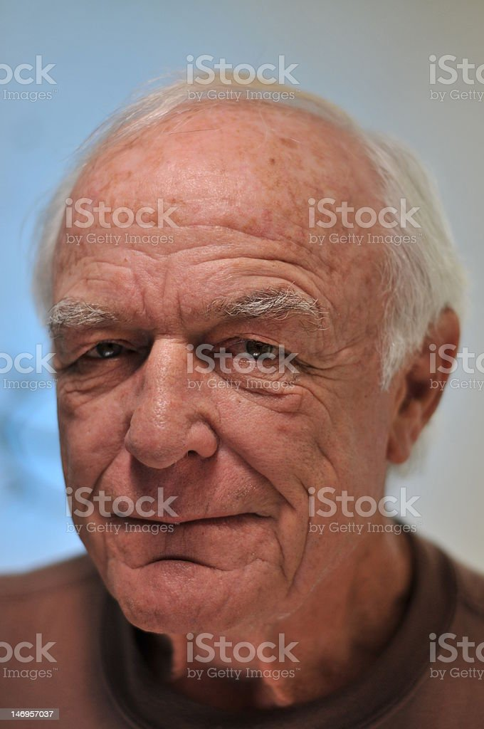 Portrait of a mature man stock photo