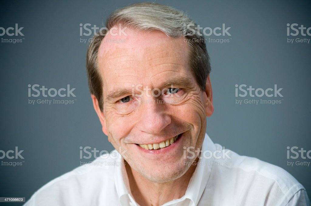 Portrait of a mature man stock photo