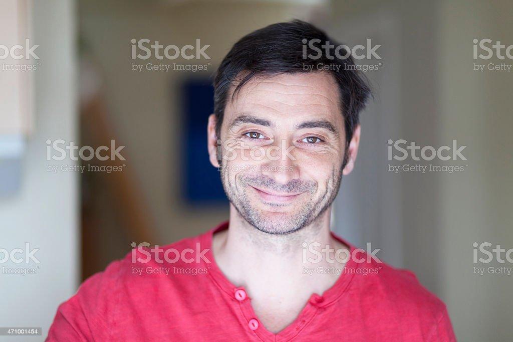 Portrait Of A Mature Spanish Man stock photo