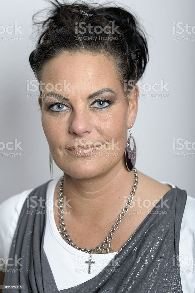 Portrait of a Mature Woman royalty-free stock photo