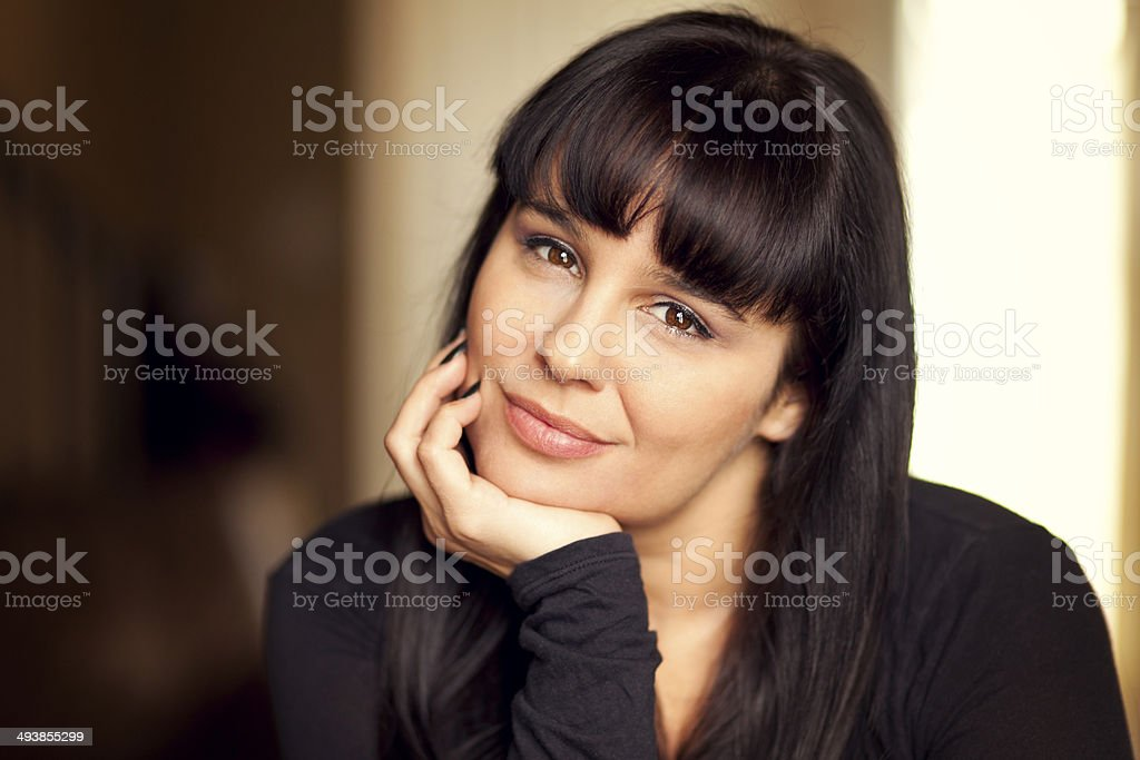 Portrait of a mature woman stock photo