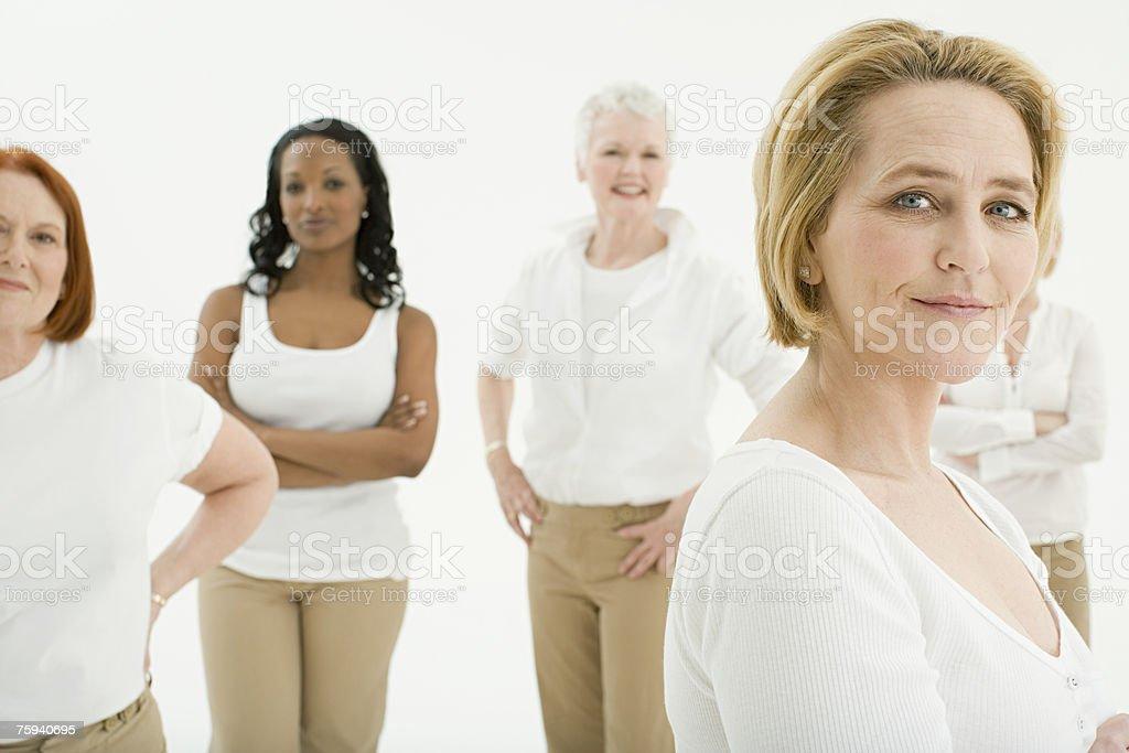 Portrait of a mature woman stock photo