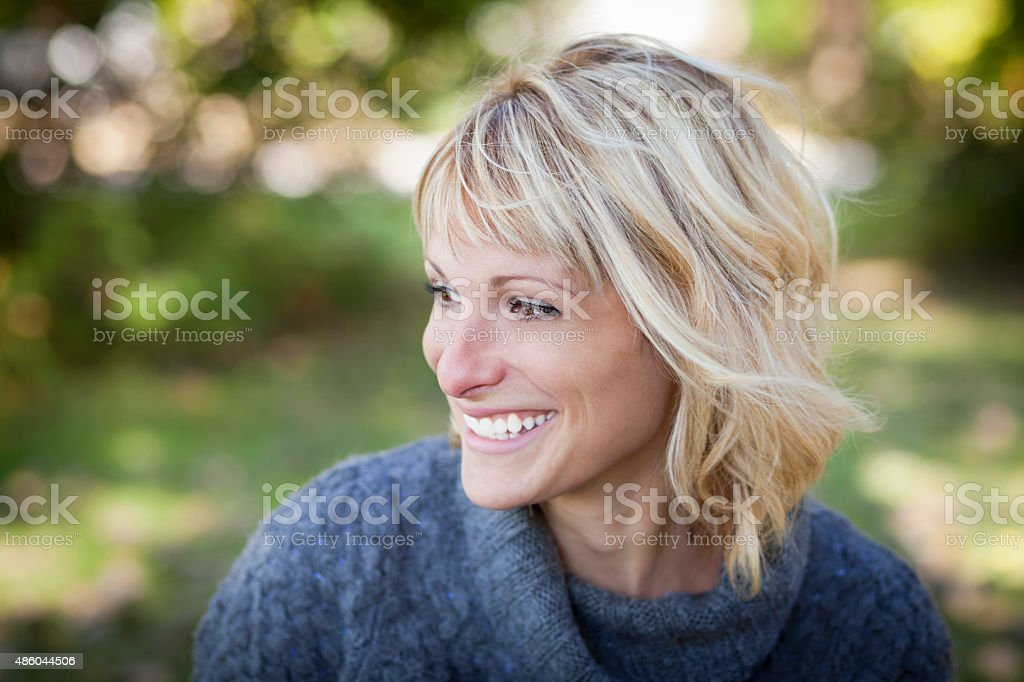 Portrait Of A Mature Woman Smiling stock photo