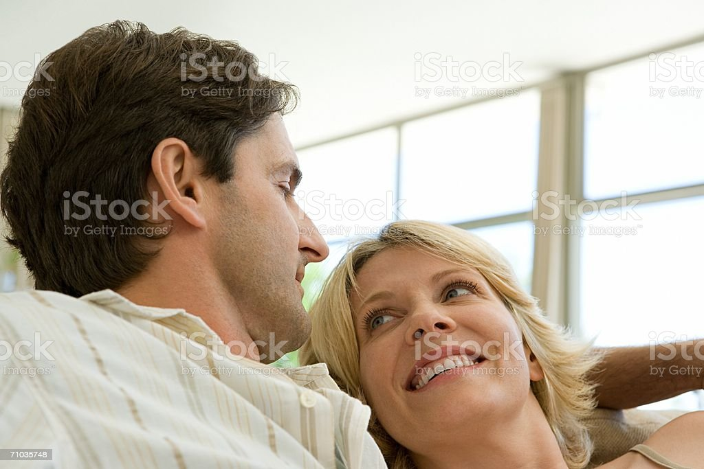 Portrait of a mid adult couple stock photo