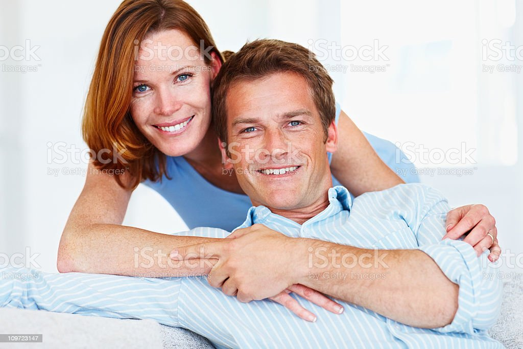 Portrait of a mid adult couple smiling royalty-free stock photo