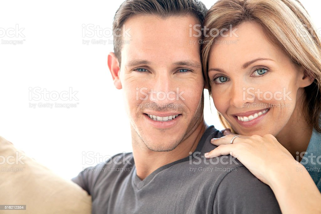 Portrait of a mid-adult couple in love stock photo