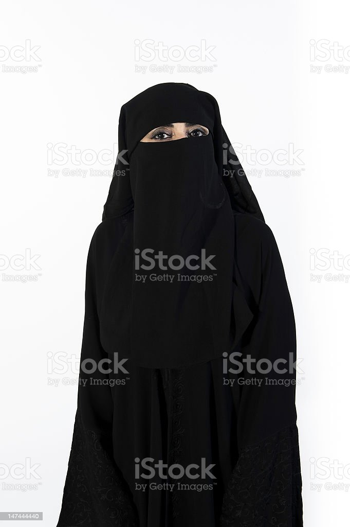 Portrait of a middle eastern beautiful woman stock photo