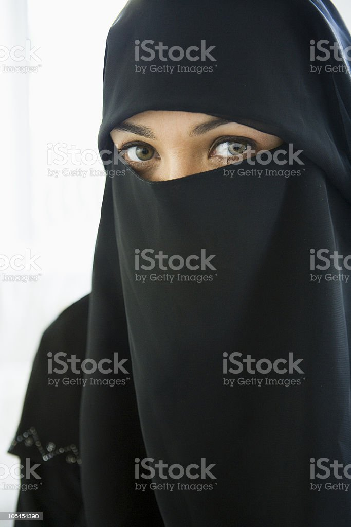 Portrait of a middle eastern woman royalty-free stock photo