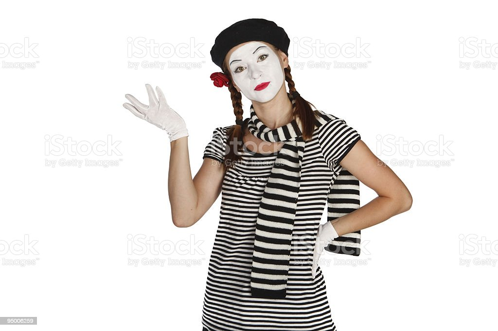Portrait of a mime comedian royalty-free stock photo