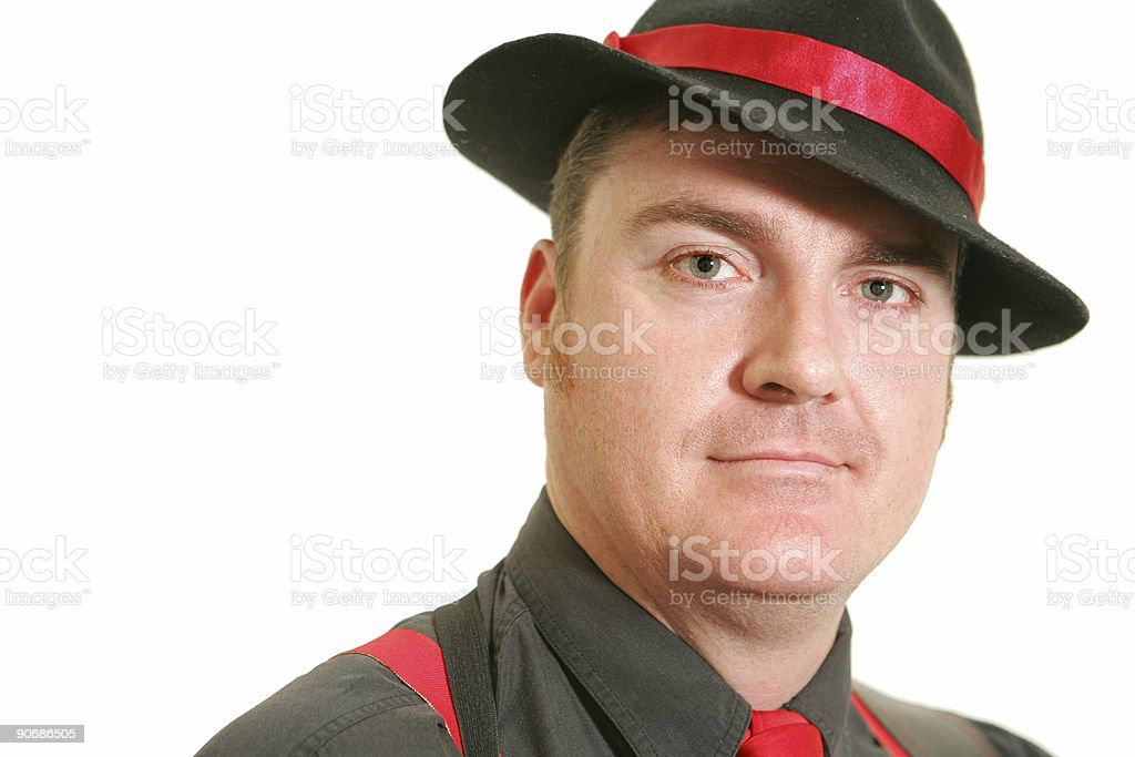 Portrait of a Mobster stock photo