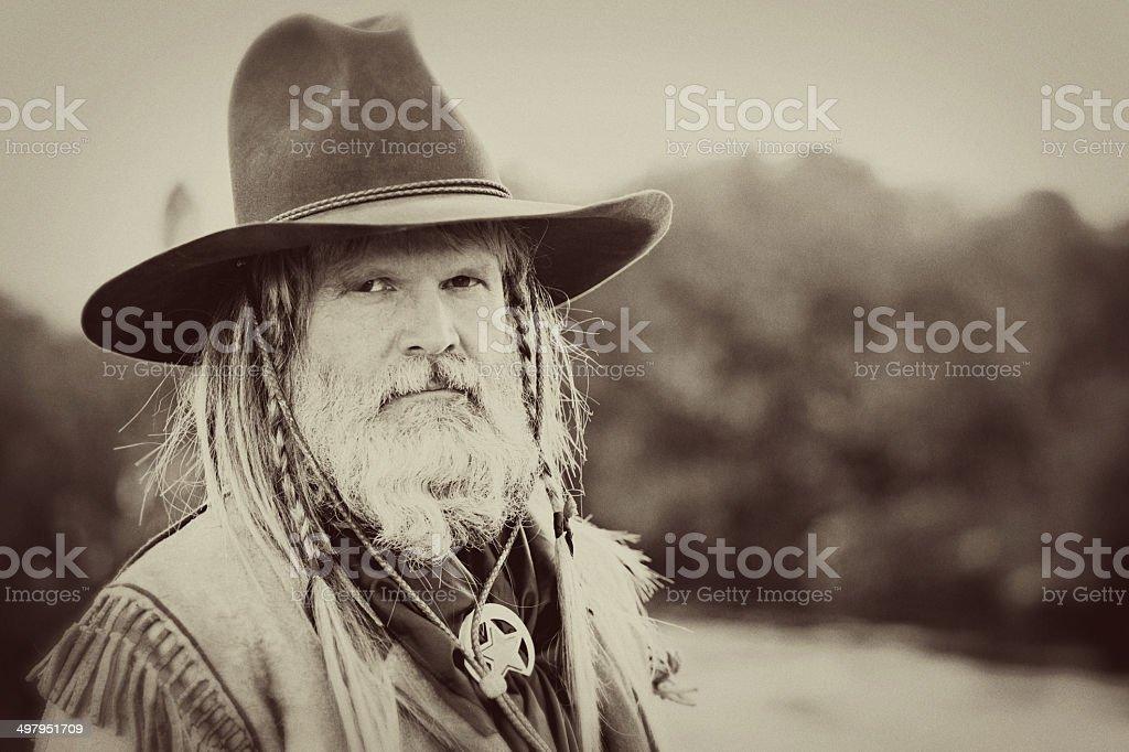 Portrait of A Mountain Man stock photo