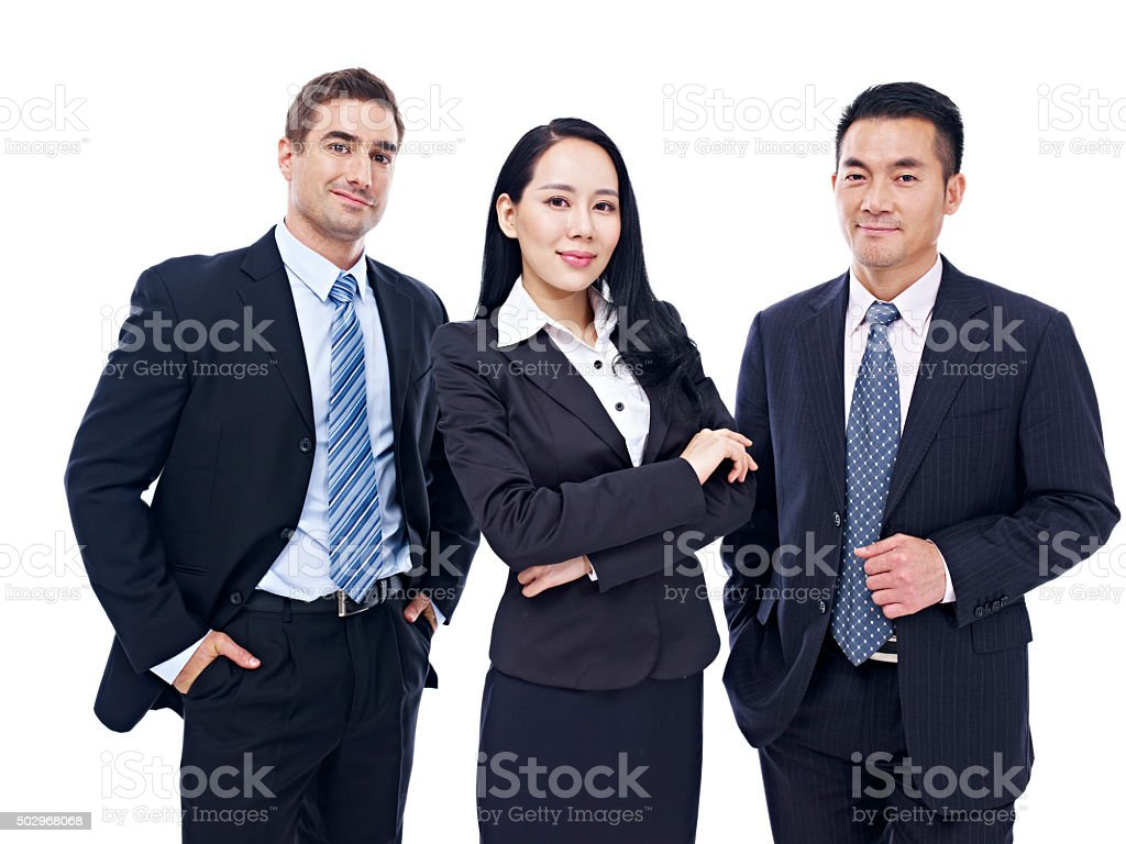 portrait of a multinational business team stock photo