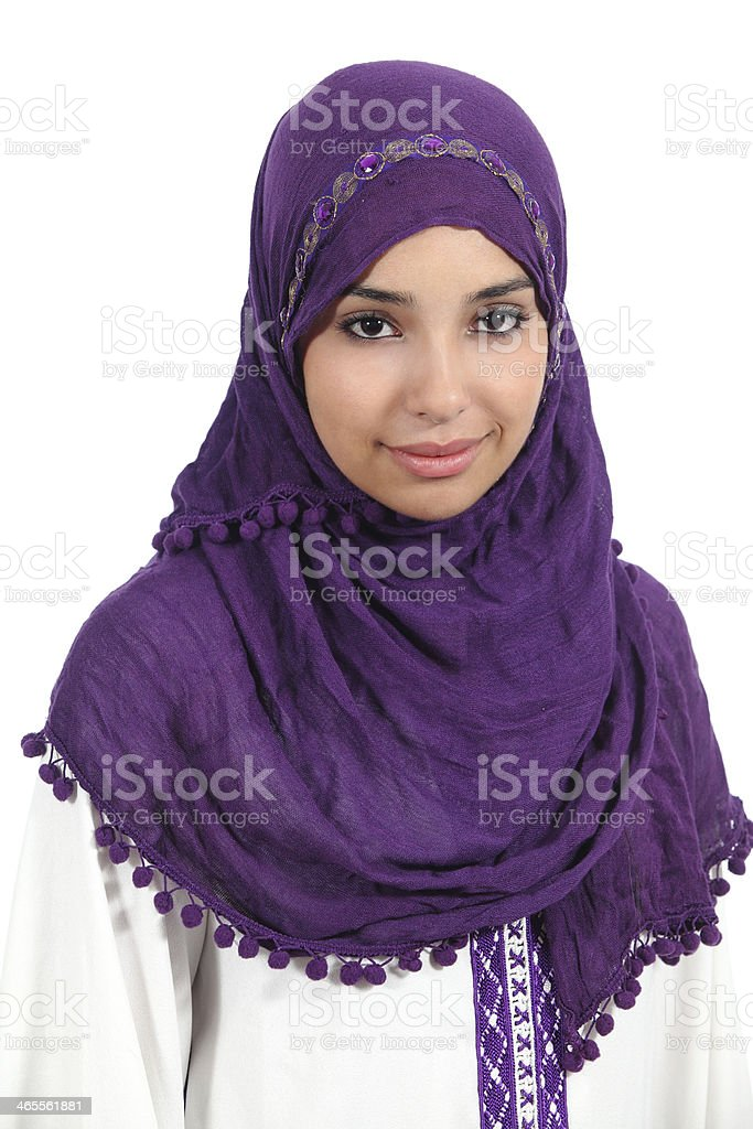 Portrait of a muslim woman stock photo