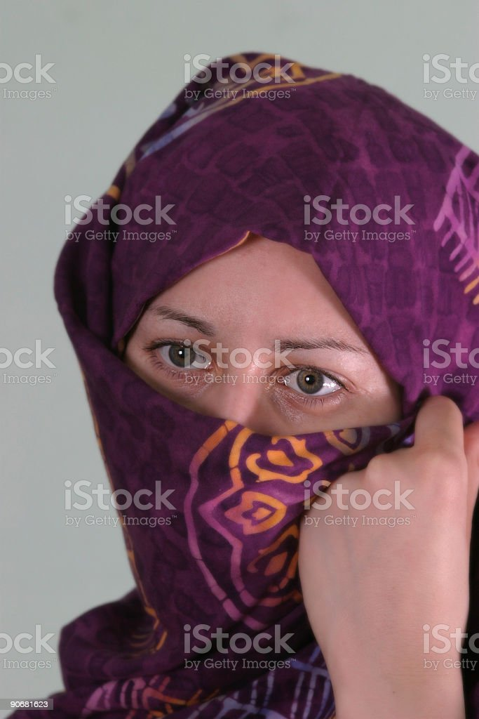 Portrait of a muslim woman royalty-free stock photo
