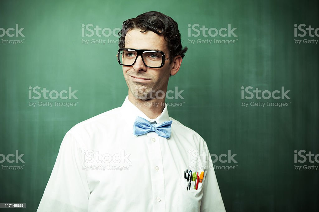 Portrait of a Nerd stock photo