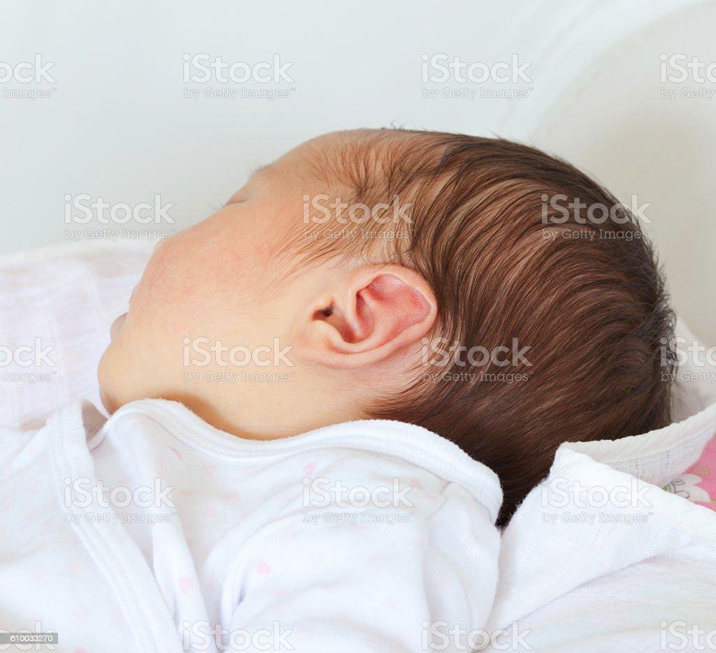 Portrait of a newborn Baby Girl stock photo