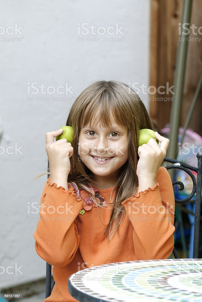 Portrait of a nice girl stock photo