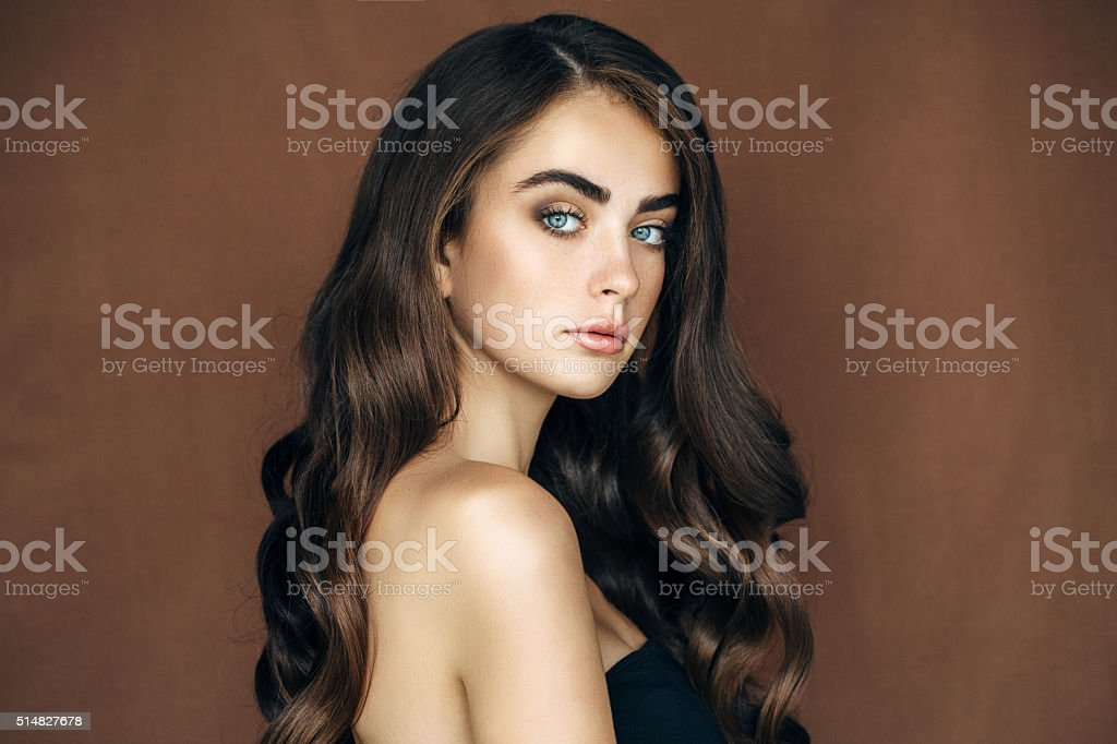 Portrait of a nice looking woman stock photo