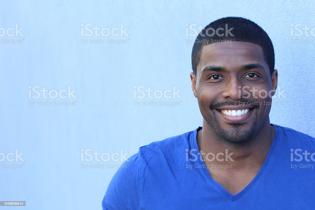 Portrait of a nice young attractive African man stock photo