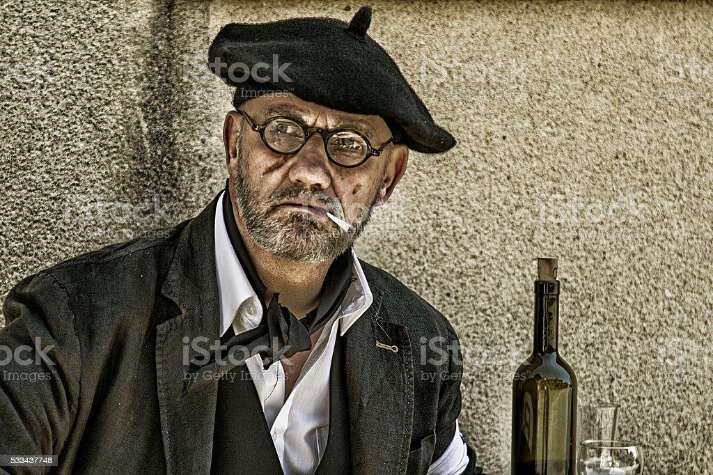 Portrait of a Parisian male stock photo