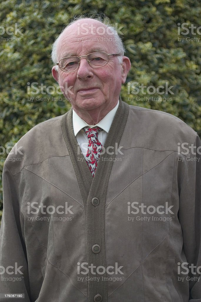 Portrait of a pensioner: 80 years old (color) 2 royalty-free stock photo