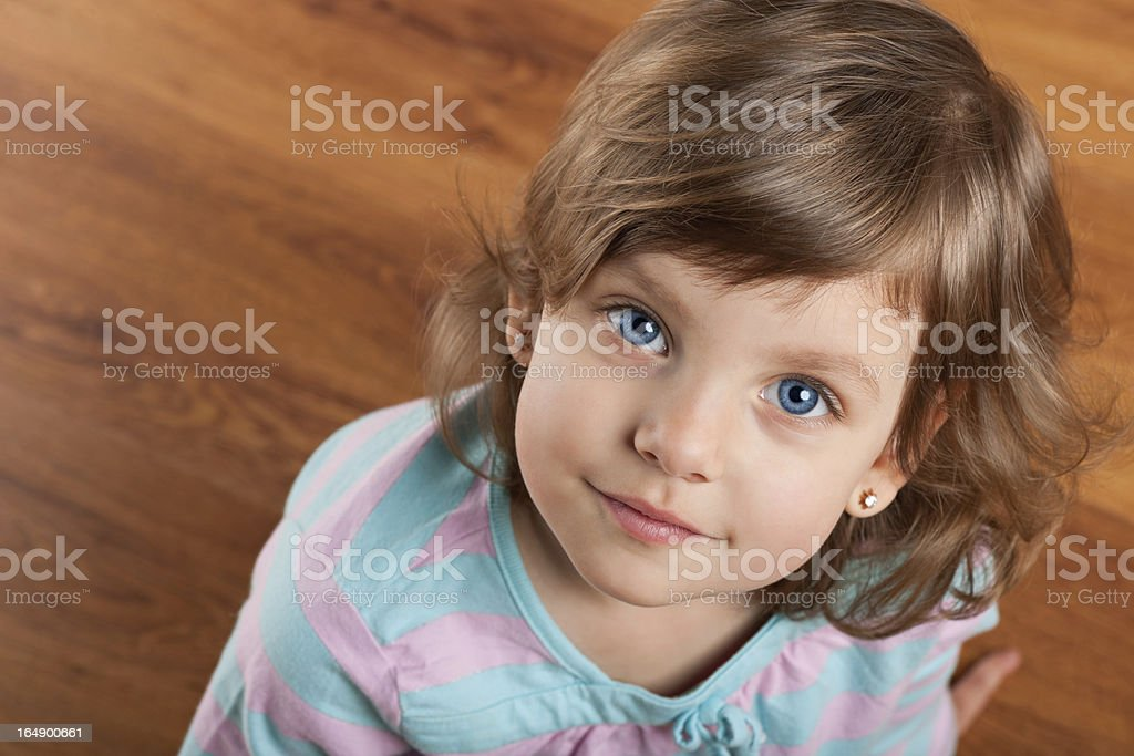 Portrait of a pensive girl royalty-free stock photo